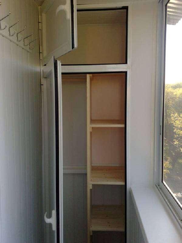 Шкаф на балконе своими руками из панелей
