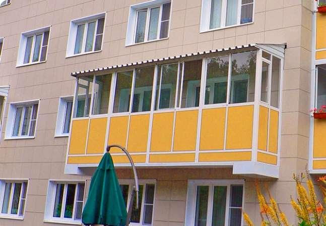 монтаж крыши на балкон