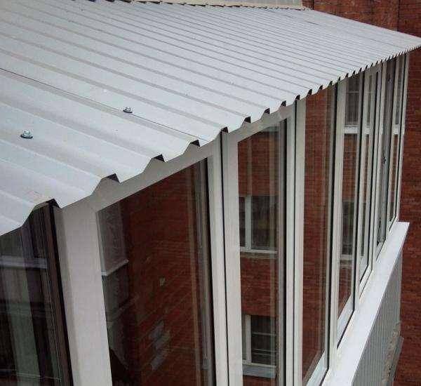Крыша на балконе видео
