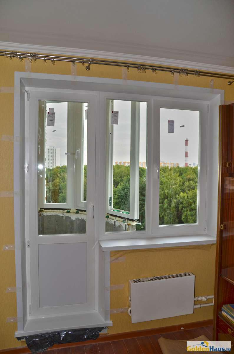 Застекление балкона серия и 155 цена..