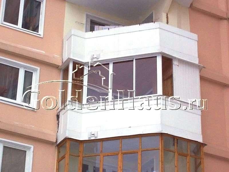Остекление балконов алюминиевым профилем provedal.