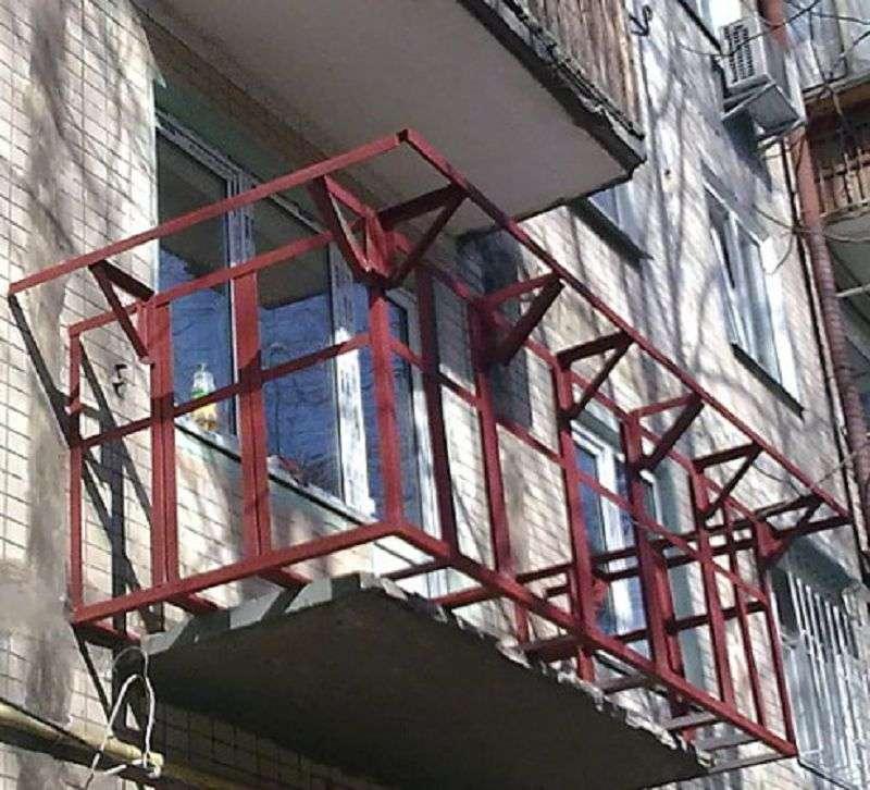 Балкон металлический своими руками 796