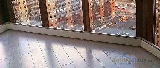 Теплый плинтус на балконе или лоджии.